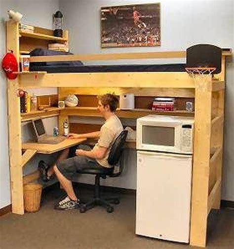 Free-College-Dorm-Loft-Bed-Plans