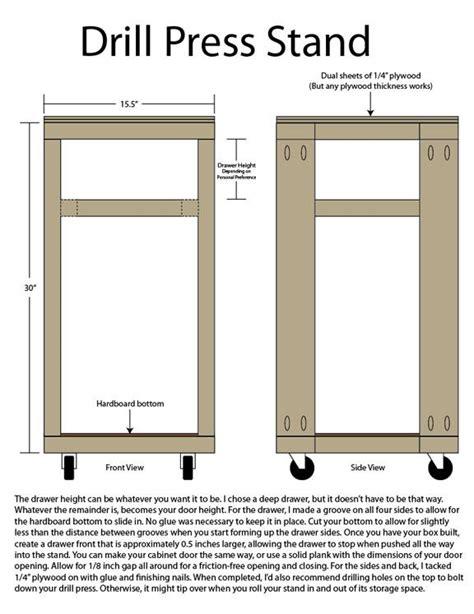 Free-Drill-Press-Stand-Plans