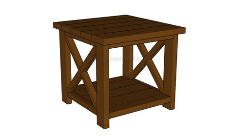 Free-End-Table-Building-Plans