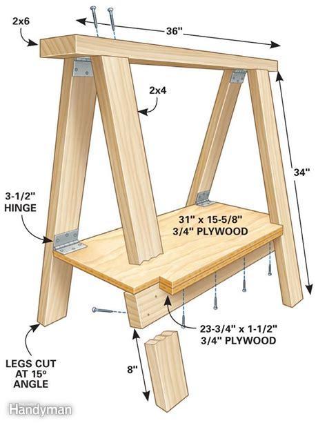 Free-Foldable-Sawhorse-Plans
