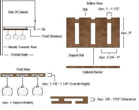 Free-Hanging-Wine-Glass-Rack-Plans