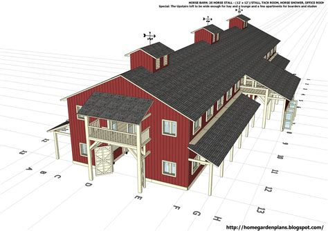 Free-Horse-Barn-Building-Plans