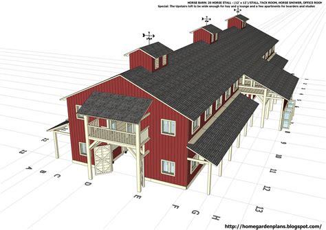 Free-Horse-Barn-Plans-Designs