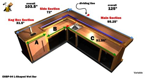 Free-L-Shaped-Wet-Bar-Plans
