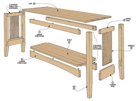 Free-Mission-Style-Sofa-Table-Plans