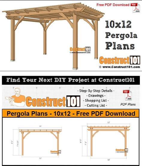 Free-Pergola-Plans-And-Material-List