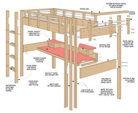 Free-Plans-Build-Full-Size-Loft-Bed