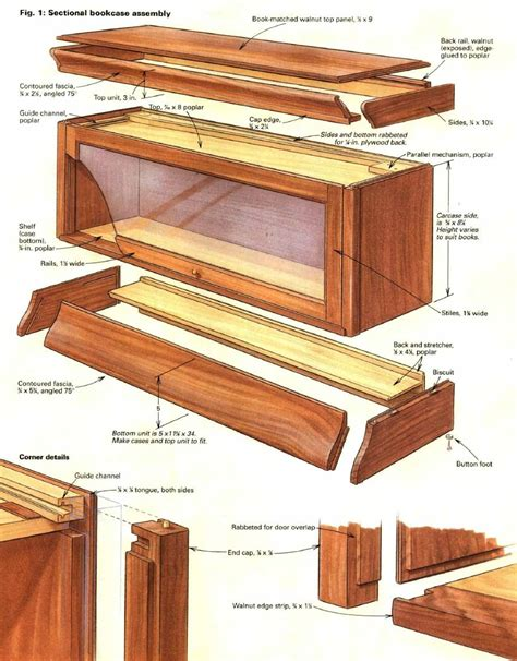 Free-Plans-For-Barrister-Bookcase