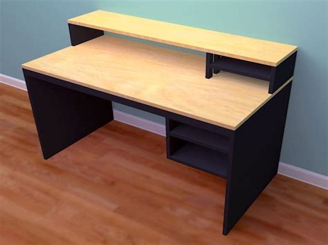 Free-Plans-For-Building-A-Computer-Desk