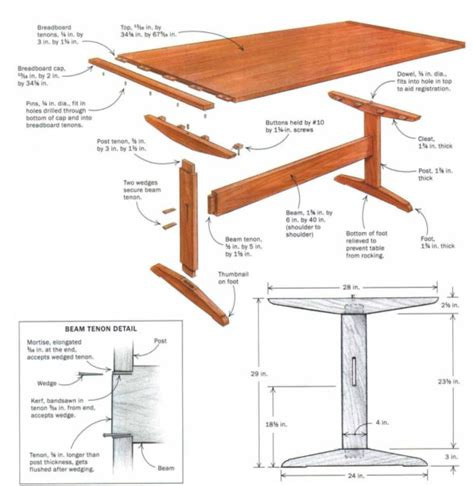 Free-Plans-For-Trestle-Table