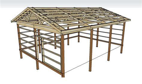 Free-Pole-Barn-Plans-And-Material-List