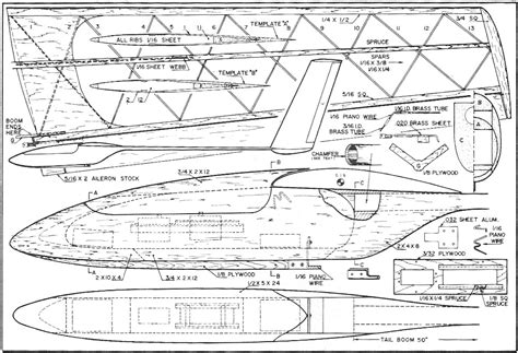 Free-Rc-Motor-Glider-Plans