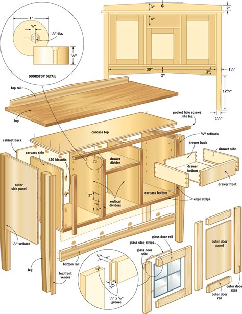 Free-Sideboard-Woodworking-Plans