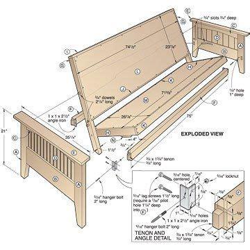 Free-Simple-Futon-Frame-Plans