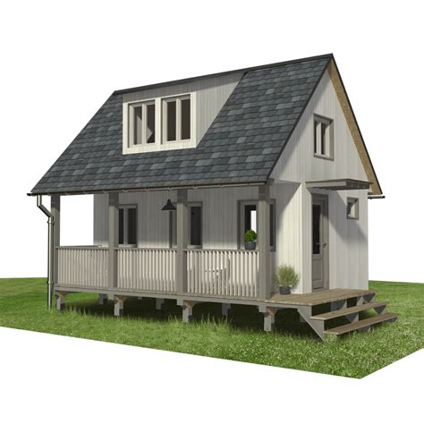 Free-Small-Cabin-Plans-With-Loft-And-Porch