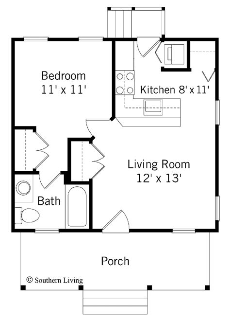 Free-Small-One-Bedroom-House-Plans