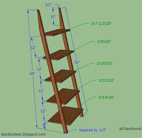 Free-Standing-Ladder-Shelf-Plans