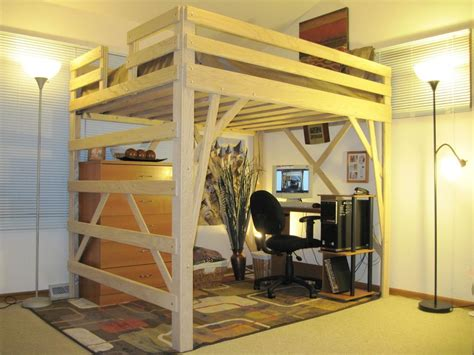 Free-Standing-Loft-Bed-Plans