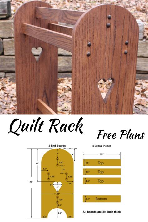 Free-Standing-Quilt-Rack-Plans
