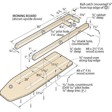 Free-Standing-Wooden-Ironing-Board-Plans