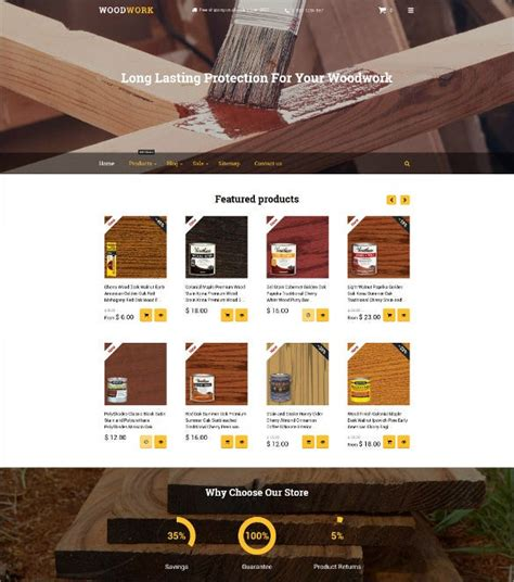 Free-Web-Bootstrap-Templates-Woodworking