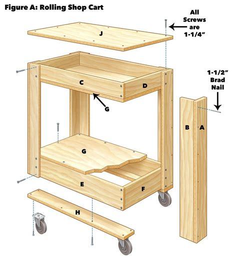 Free-Wood-Tool-Cart-Plans