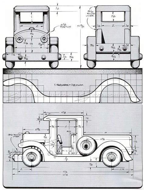 Free-Wooden-Pickup-Truck-Plans