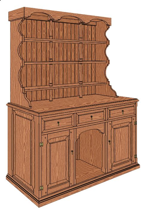 Free-Woodworking-Plans-Welsh-Dresser