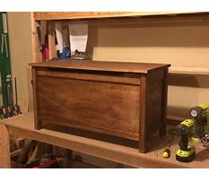 Best Free building plans for toy chest
