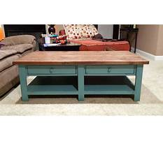 Best Free coffee table with drawer plans