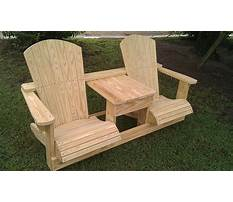 Best Free double adirondack chair with table plans