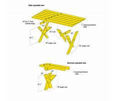 Best Free folding picnic table plans.aspx