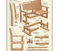 Best Free glider bench plans