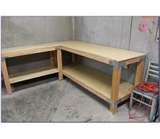 Best Free l shaped workbench plans