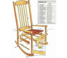 Best Free plans for a wooden rocking chair