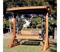 Best Free plans for bench swing