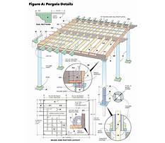 Best Free plans for wooden pergola details