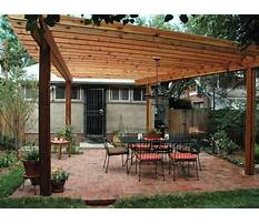 Best Free plans for wooden pergola with roof