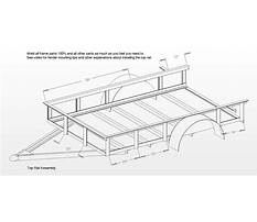 Best Free plans to build a utility trailer