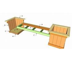 Best Free planter bench plans