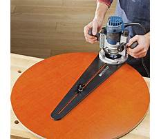 Best Free router circle cutting jig plans