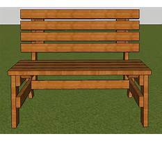 Best Free simple park bench plans