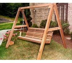Best Free standing swing frame plans