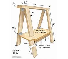 Best Free woodworking plans sawhorse