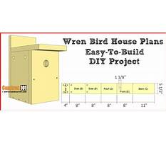 Best Free wren birdhouse plans