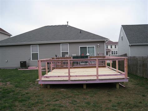 Freestanding 16x16 Deck Plans