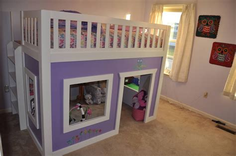 Freestanding Loft Bed Diy Playhouse