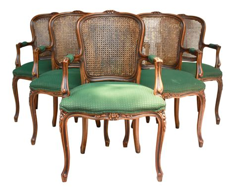 French Cane Dining Room Chairs
