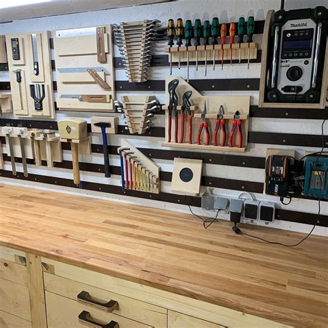 French Cleat Wrench Storage Plan