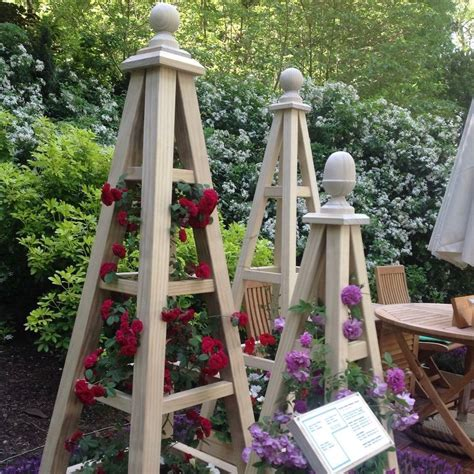 French Wood Garden Obelisk
